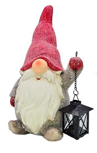 Wichtelstube-Kollektion XXL Wichtel Figuren Weihnachten 41cm mit Laterne Weihnachtsdeko aussen