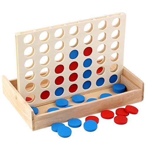 4 Gewinnt Strategiespiel Holz Kinder, 4 Gewinnt Spiel Kinder Für 2 Spieler, Gesellschaftsspiel Kind Erwachsene