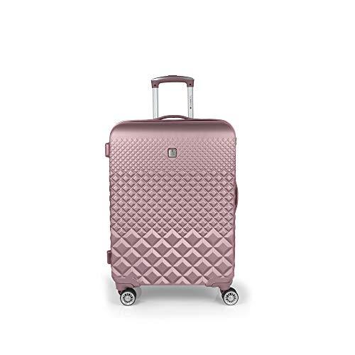 Gabol - Oporto | Maleta de Viaje Mediana Rigida de 47 x 67 x 25 cm con Capacidad para 62 L de Color Rosa