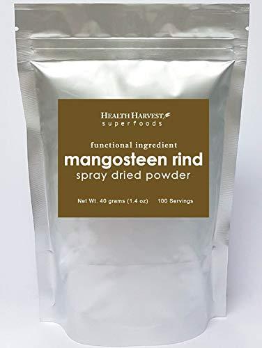 Poudre de Mangoustan Croûte 40g | Ingrédients fonctionnels | Séché par pulvérisation | 100% hydrosoluble | Nourriture végétalienne | Sans gluten | Non-OGM | Sans produits chimiques