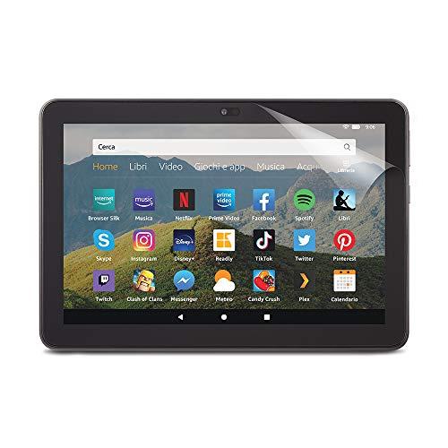 NuPro Pellicola di protezione schermo per tablet Amazon Fire HD 8 (10ª generazione - modello 2020), trasparente, confezione da 2 pezzi