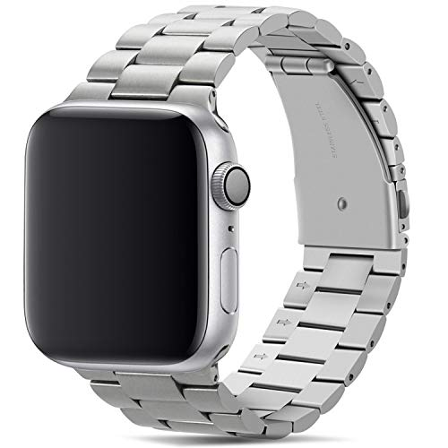 Tasikar para Correa Apple Watch 38mm 40mm Metal de Acero Inoxidable Correa de Repuesto Compatible con Apple Watch Series 5 Series 4 (40mm) Series 3 Series 2 Series 1 (38mm) - Plata
