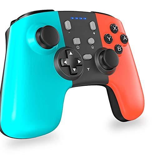 MISSJJ Mando para Nintendo Switich, Mando Pro Nintendo Switch Wireless con Turbo, Giroscopio, Vibración, Dual Motor, Compatible con Nintendo Switch/Lite/PC