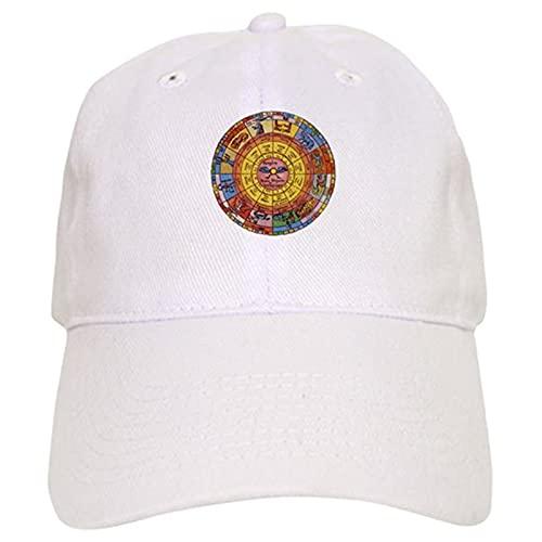 Baseballkappe, verstellbare Kappen, Vintage-Stil, Sternzeichen-Radkappe, Sonnenhut, Fischhut, Vater Hüte, Unisex, Outdoor-Sport, Mützen, weiß