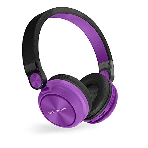 Energy Sistem Headphones BT Urban 2 Radio Violet (Auriculares inalambricos, Reproductor MP3 microSD, Radio, Bluetooth) Lila