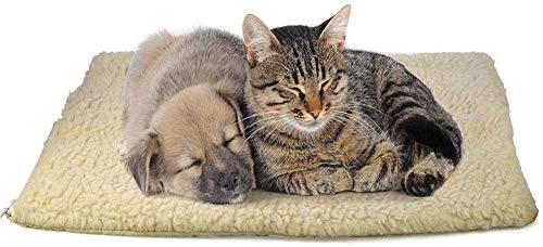 GLEYDY Haustiere Heizkissen Warm halten Heizmatte Hunde Katzen Wärmematte Waschbare Hundebett Katzenbett Selbstheizende Decke,002