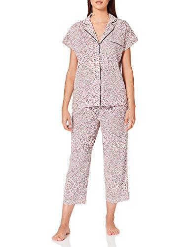 Women' Secret Pijama Camisero algodón orgánico, Estampado Blanco, M para Mujer