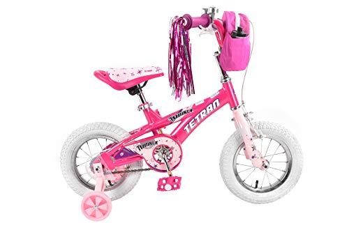 Tetran Twinkle Freestyle BMX Bike, 12/16 inch, Pink, Purple, White (Pink, 12 inch)