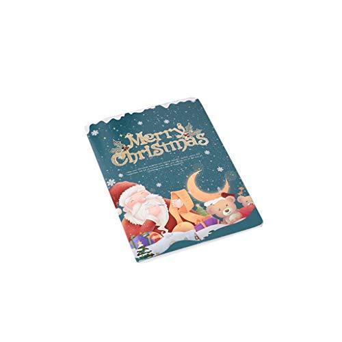 FBGood Weihnachtskarte – Postkarten-Set Weihnachten und heiße Grüße Weihnachten, Mehrfarbig, B