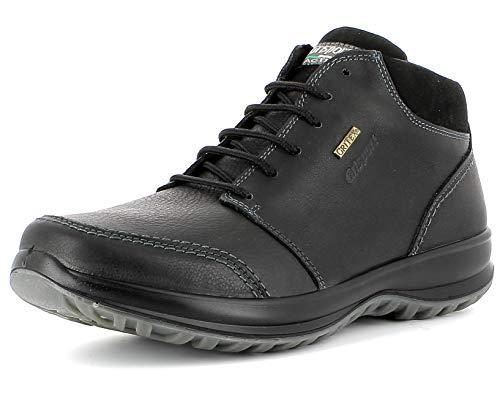 Grisport Sneaker High,Männer,Herren_Halbschuh,wasserdicht, bequem, halbhoher Lederschuh, Active-System, hoher, rutschfest,Schwarz, 43