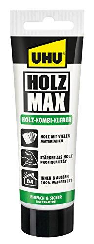 UHU Holz Max Tube, wasserfester und hochbelastbarer Holz-Kombi Klebstoff ohne Lösungsmittel, 100 g