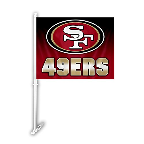 Fremont Die NFL San Francisco 49ers Car Flag, 11