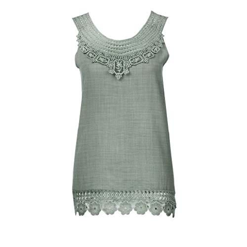 Dames top Bluelucon, zomer tanktop casual kort bovendeel elegant mouwloos t-shirt basic blouse tanktop grote maten