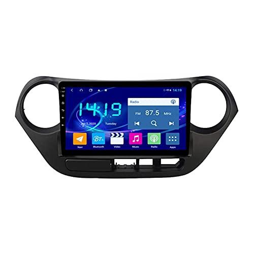 GPS Navigation Car Estéreo para Hyundai i10 2013-2016 Auto Multimedia Video Player SAT NAV FM Radio Receptor 1080P HD Pantalla táctil con WiFi Bluetooth MirrorLink DSP SWC USB,4 core 4g+wifi: 1+16gb