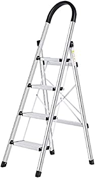 Lionladder 4 Step Ladder with Wide Anti-Slip Pedal