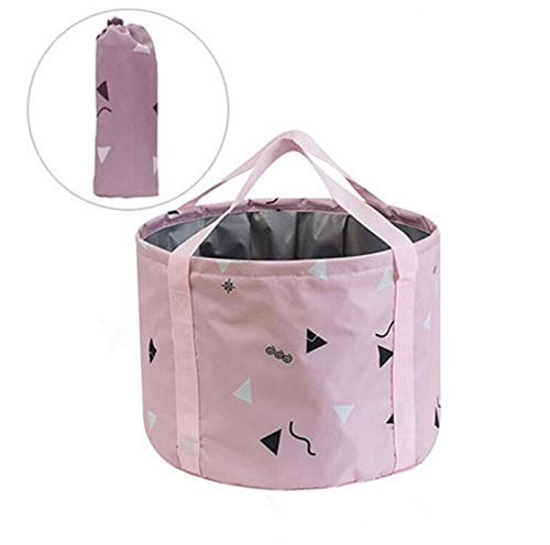 24L Collapsible Foot Soaking Bath Basin for Large Feet, Portable Foot Spa Soak Tub Foldable Water Bucket for Travel Camping, Pink