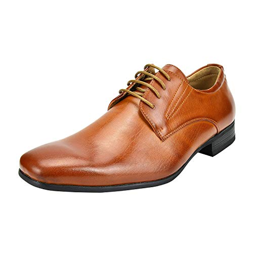 Bruno Marc Men's Gordon-03 Brown Classic Modern Formal Oxfords Lace Up Leather Lined Snipe Toe Dress Shoes - 10 M US