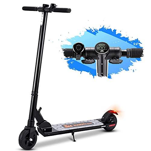 Elektro Scooter Faltbarer E-Scooter, Maximale Geschwindigkeit 25km/h, 15Km Reichweite, 5.5 Zoll Vollreifen Elektroroller für Erwachsene und Jugendliche - Mini