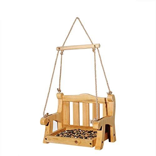 LOVOICE Mangiatoia per uccelli, per uccelli, sedia a dondolo Bird Feeder Garden Hanging Swing Bird Feeder, per cortile, all aperto