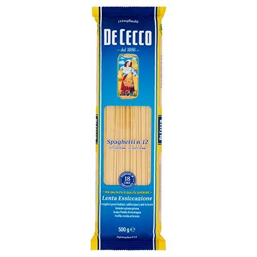 De Cecco Spaghetti N° 12 Pasta di Semola di Grano Duro, 500g