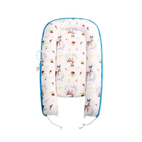 KTYX Beste Baby-Bassinet 2020 bewegliches Baby-Nest Lounger 100% Bio-weiches Baumwollbreathable Babybett Bett Perfekt for Co-Sleeping (Color : E)