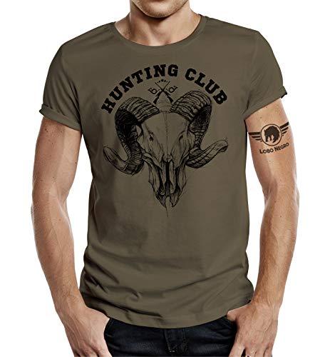 Jäger T-Shirt: Hunting Club Ram Skull 3XL