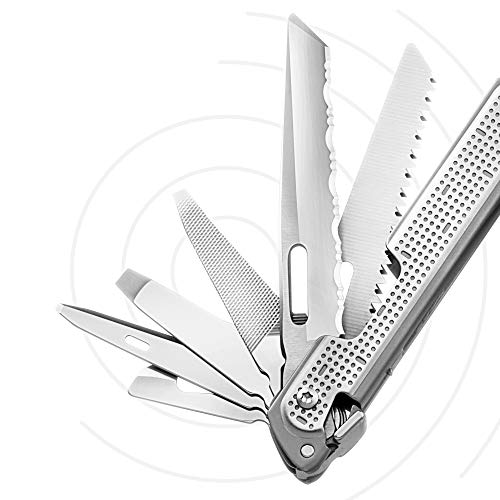 LEATHERMAN, FREE P4 Multitool with Magnetic Locking, One Size Hand Accessible Tools and Premium Nylon Sheath and Pocket Clip, Built in the USA