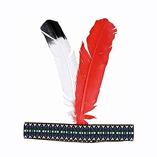 Indianer-Kostüm: Stirnband mit Federn