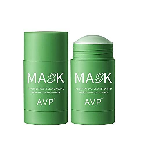 Limpiador Facial para la Limpieza de Té Verde, Producto Hidratante para el Cuidado de la Piel para Controlar el Aceite del Lápiz, Limpieza Profunda contra el Acné y Las Espinillas (Verde)