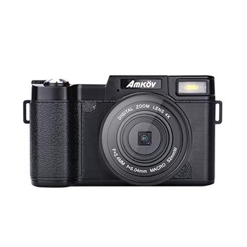 Uonlytech 24 Millionen Pixel 1080p HD Kameraaufnahmen Flip Camera 3.0 Zoll (Schwarz)