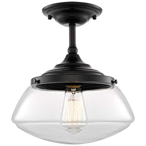 Kira Home Summit 10' Modern Industrial Farmhouse Semi Flush Mount Ceiling Light...