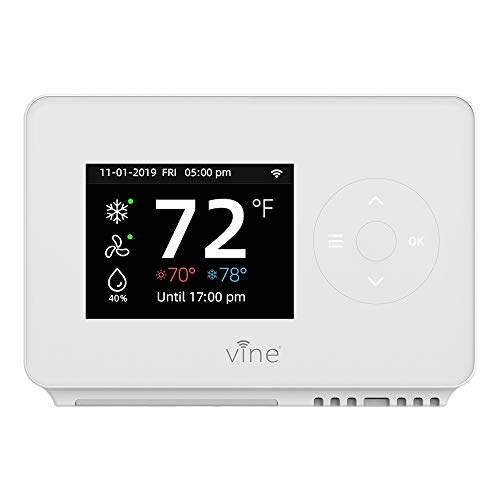Vine Smart Wifi 7day/8period Programmable Thermostat Model TJ-225,Compatible with Alexa and Google assistant