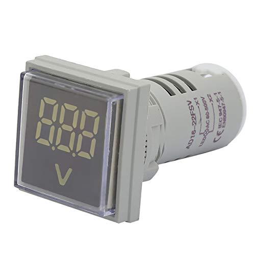 Indicador de voltaje, indicador LED de voltaje Cuadrado de tamaño pequeño para...