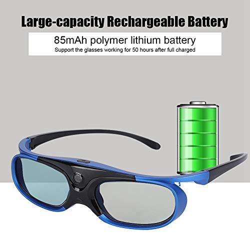 Redxiao 3D Glasses, High Transparency 140 * 40 * 50Mm Universal HD Lens Universal 3D Projector, for 3D Projector