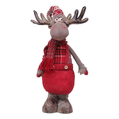 Ridecle Weihnachten Plüsch Puppe Spielzeug sitzen Elch Ornament Tisch Kamin Fenster Dekoration Home Party festlichen Dekor