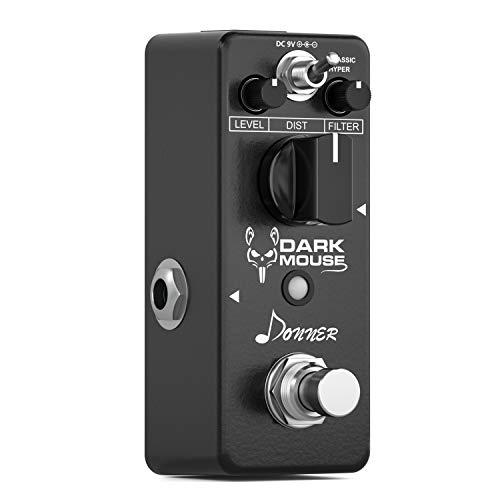 Donner Dark Mouse Distortion Pedal True Bypass Distortion Gitarre Effektpedal