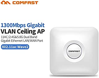 Comfast High Power 1300Mbps Dual Band Wireless Ceiling AP Gigabit WAN LAN Ethernet POE Port Wireless Router Openwrt Amplif...