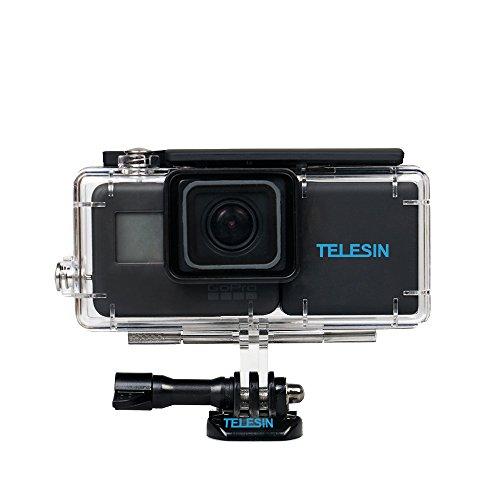 TELESIN 2300 mAh Bequem Power Batterie Rucksack Erweiterte Batterie Backup Batterien mit Wasserdichte Gehäuse für GoPro Hero 6/5 Zubehör