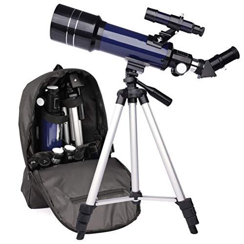 Telescópio de astronomia para crianças, adultos, telescópio profissional com tripé, telescópio de refração astronômica, telescópio de viagem com 2 ampliações oculares