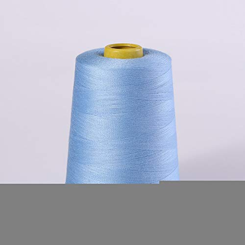 Great Deal! 8000 Yards Orange Overlock Sewing Machine Polyester Thread Line (19/Colors),Light Blue