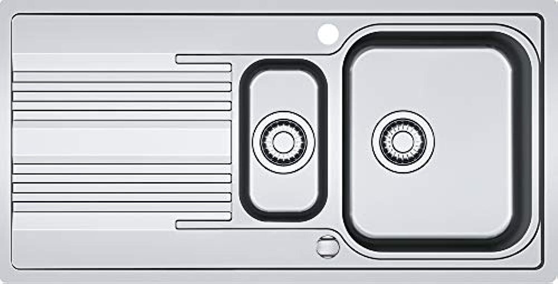 SRX 251 1,004x514mm, 3 1 2', mit Ventil, reversibel, gebuerstet, mitGrüncktem Ueberlauf, 2 Batterieloecher,