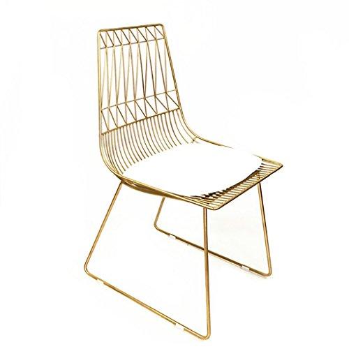 Kruk, barkruk, ontbijtshocker, industriële, Hollow-Out, ijzengaren, stoelen, goudkleurig, zwart Goud
