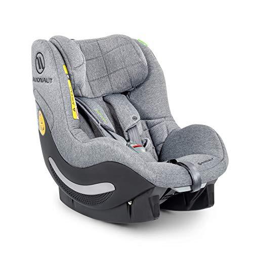AeroFIX RWF Soft Line de Avionaut | Silla de coche reboard (orientada hacia atrás) | silla de coche grupo 1 (9kg-17.5kg, 67cm-105cm) | para niños pequeños de 6 meses a 4 años | Gris Melange