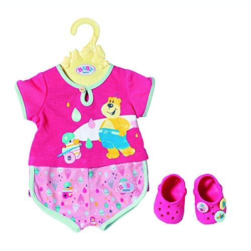 Zapf Creation 827437 BABY born Bath Pyjamas & Clogs, Puppenkleidung 43 cm