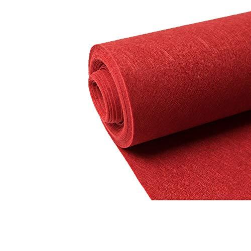 Alfombras XIA Desechable roja, Fibra química de Materiales, Antideslizante, Resistente a Las Manchas, la Boda de la Etapa de decoración 2 mm de Espesor, (Size : 1.5x20m)