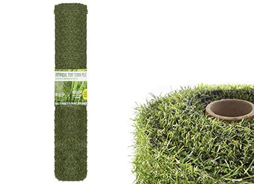 4m x 1m Roll 20mm Pile Height Carpet Artificial Grass Astro Garden Lawn High Density Fake Turf, Dark...