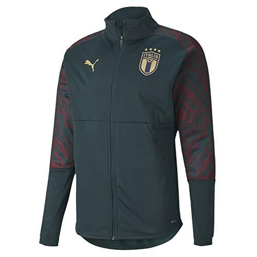 PUMA FIGC Stadium Third Jacket Veste de Survêtement Homme Ponderosa Pine/Cordovan FR : XL (Taille Fabricant : XL)