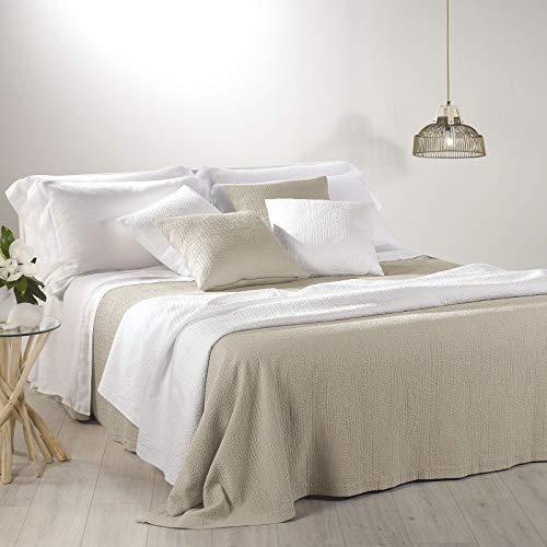 Caleffi Couvre-lit d'été légère Capri Beige 2 places (cm.260 x 260)