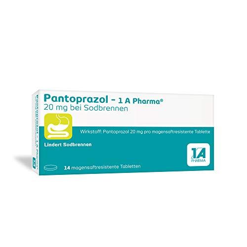 Pantoprazol - 1 A Pharma 20 mg Tabletten bei Sodbrennen, 14 St. Tabletten