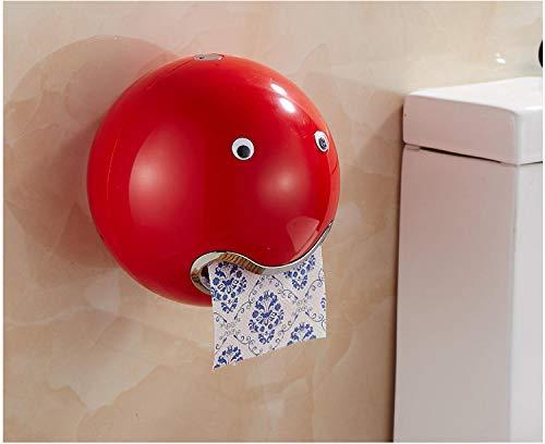 Rollenhalter Toilettenpapierhalter Creative CartonSaugnapf Toilettenkarton HandtuchRose Gold ToilettenpapierhalterToilettenpapierregal Papierhandtuch-Rot
